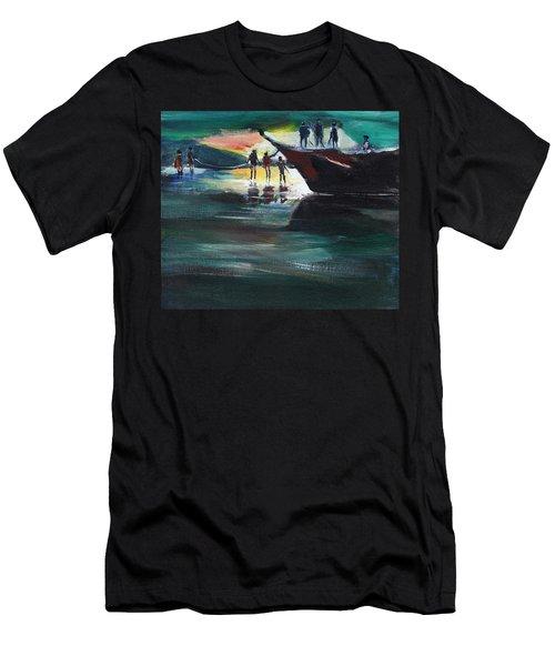 Fishing Line Men's T-Shirt (Athletic Fit)