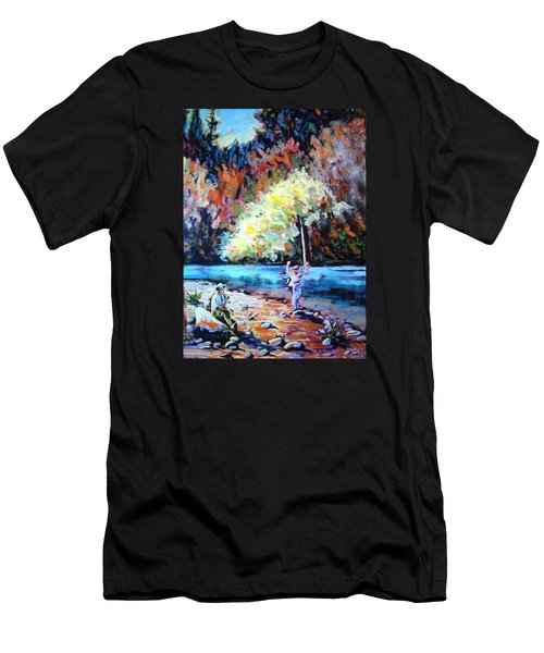Fishing Painting Catch Of The Day Men's T-Shirt (Athletic Fit)