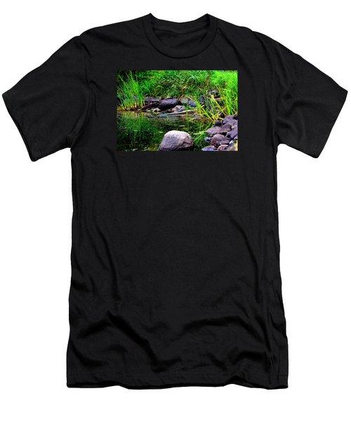 Fishing Pond Men's T-Shirt (Athletic Fit)