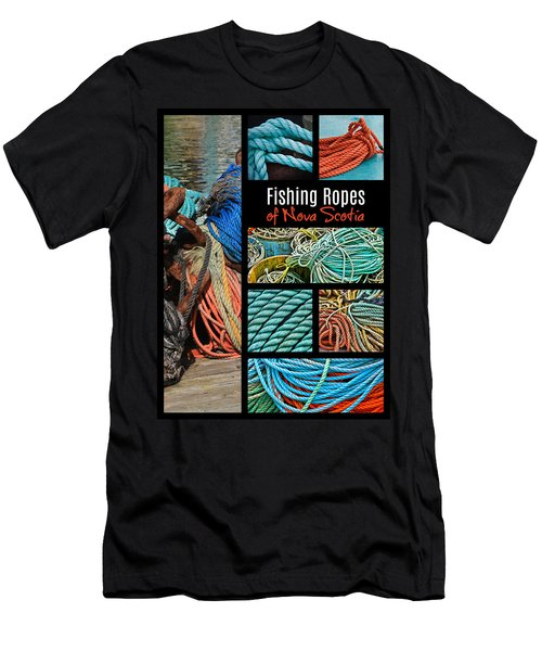 Fishing Ropes Of Nova Scotia Men's T-Shirt (Athletic Fit)