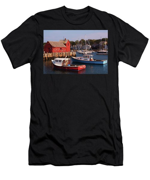 Men's T-Shirt (Slim Fit) featuring the photograph Fishing Shack by John Scates