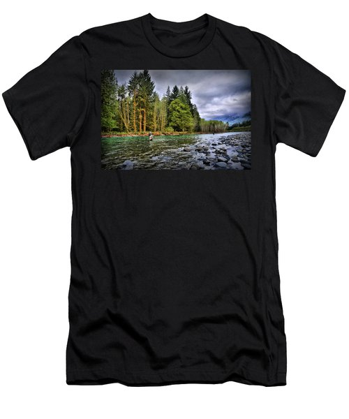 Fishing The Run Men's T-Shirt (Athletic Fit)
