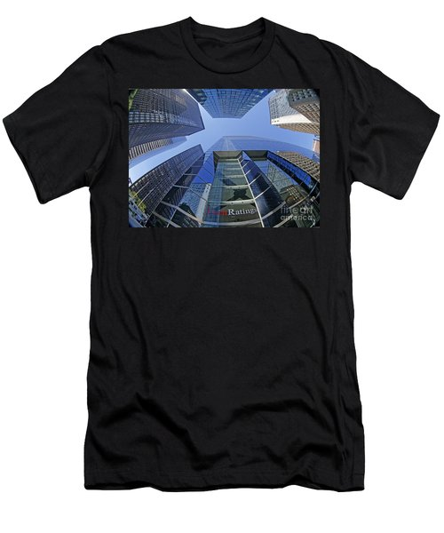 Men's T-Shirt (Athletic Fit) featuring the photograph Fitch Ratings Manhattan Nyc by Juergen Held