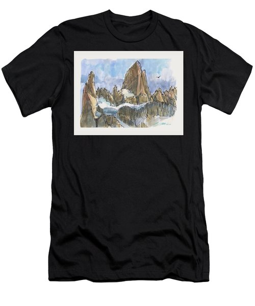 Fitz Roy, Patagonia Men's T-Shirt (Athletic Fit)