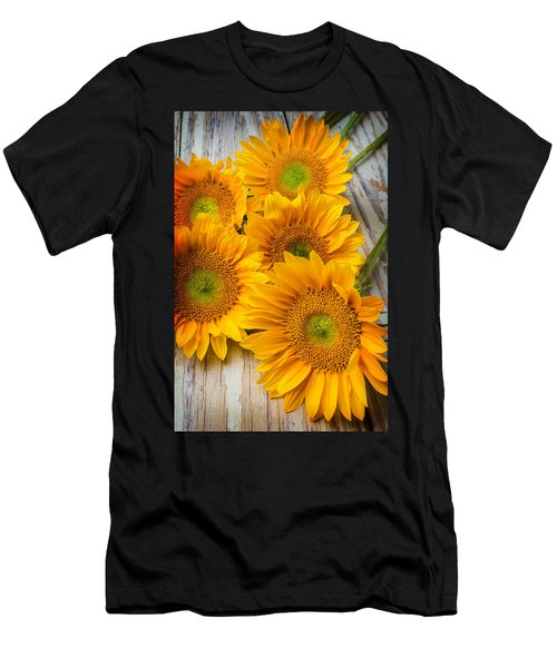 Five Moody Sunflowers Men's T-Shirt (Athletic Fit)