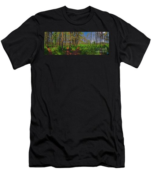 Paths, Pines 360 Men's T-Shirt (Athletic Fit)