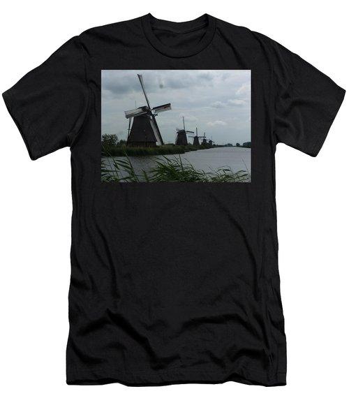 Five Windmills In Kinderdijk Men's T-Shirt (Athletic Fit)