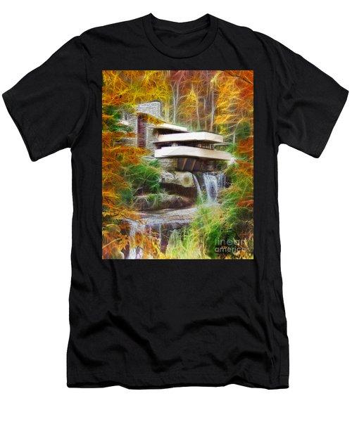 Fixer Upper - Frank Lloyd Wright's Fallingwater Men's T-Shirt (Athletic Fit)