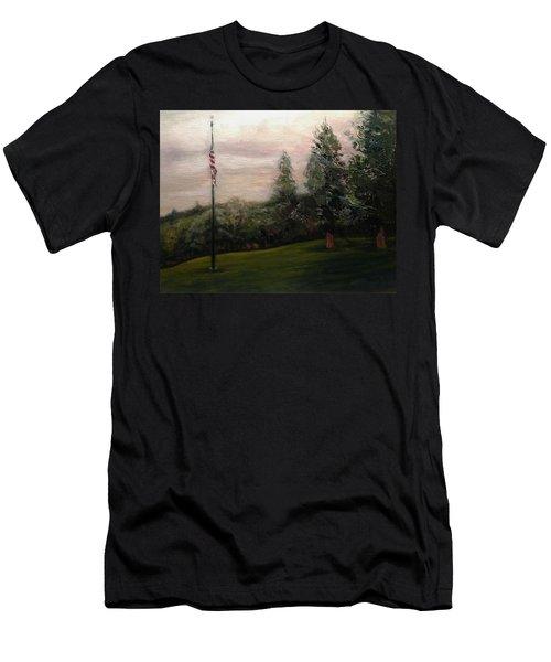 Flag Pole At Harborview Park Men's T-Shirt (Athletic Fit)