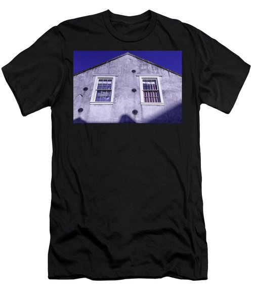 Flag In Window Men's T-Shirt (Athletic Fit)