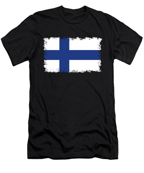 Flag Of Finland Men's T-Shirt (Athletic Fit)