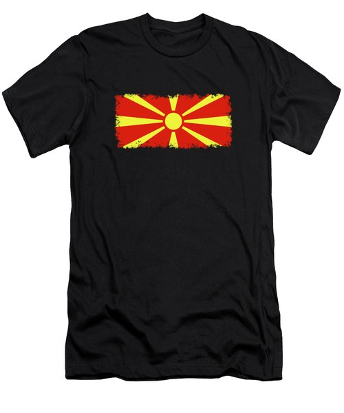 Flag Of Macedonia Men's T-Shirt (Athletic Fit)