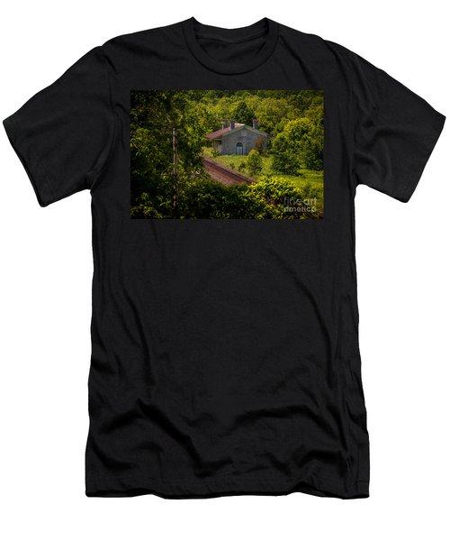 Flag Stop Men's T-Shirt (Athletic Fit)