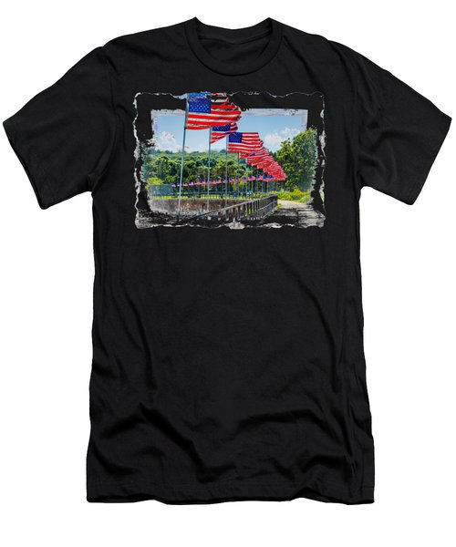 Flag Walk Men's T-Shirt (Athletic Fit)