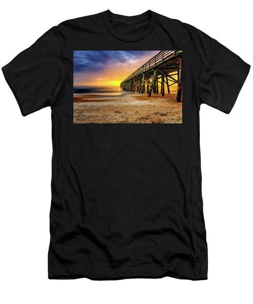 Flagler Beach Pier At Sunrise In Hdr Men's T-Shirt (Athletic Fit)