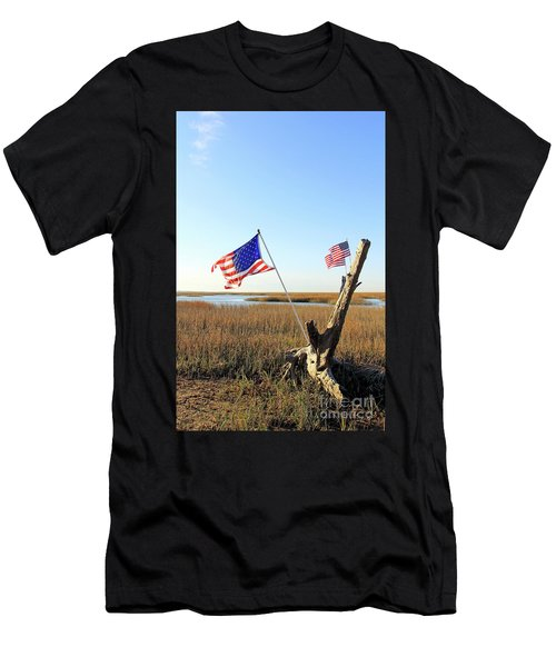 Flags Near Tybee Men's T-Shirt (Athletic Fit)