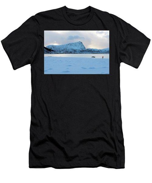 Men's T-Shirt (Athletic Fit) featuring the photograph Flakstad, Lofoten, by Dubi Roman