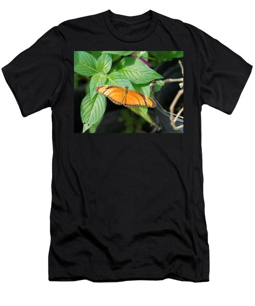 Men's T-Shirt (Athletic Fit) featuring the photograph Flambeau Butterfly by Paul Gulliver