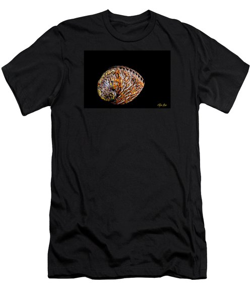 Men's T-Shirt (Athletic Fit) featuring the photograph Flame Abalone by Rikk Flohr