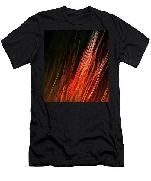 Flame Grass  Men's T-Shirt (Slim Fit) by Theresa Tahara