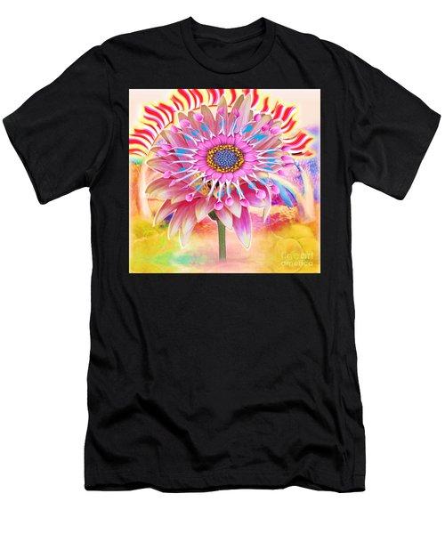 Flaming Sunrise Men's T-Shirt (Athletic Fit)