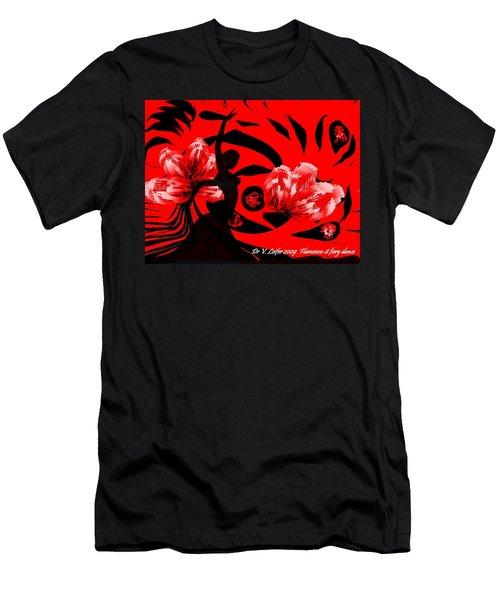 Men's T-Shirt (Slim Fit) featuring the digital art Flamenco-fairy Dance by Dr Loifer Vladimir