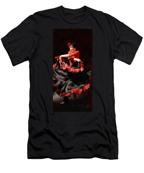 Flamenco Frills Triptych Panel 3 Of 3 Men's T-Shirt (Athletic Fit)