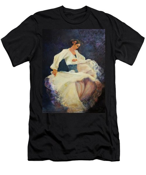 Flamenco In White Men's T-Shirt (Athletic Fit)