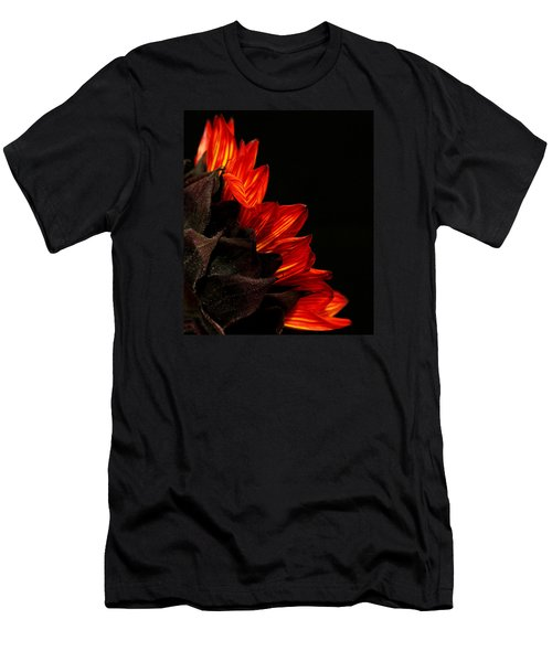 Men's T-Shirt (Slim Fit) featuring the photograph Flames by Judy Vincent