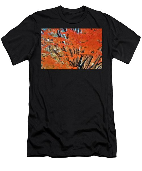 Flaming Fall Foliage Men's T-Shirt (Athletic Fit)