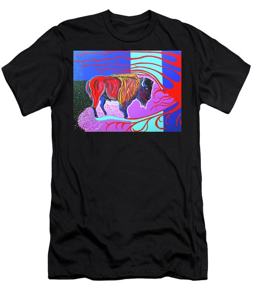 Flaming Heart Buffalo Men's T-Shirt (Athletic Fit)