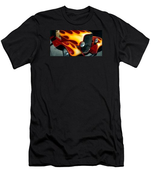 Men's T-Shirt (Athletic Fit) featuring the photograph Flaming Hot Rod by Michael Hope