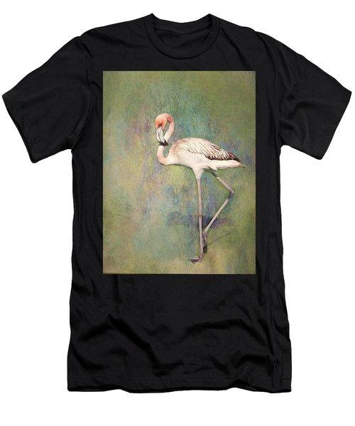 Flamingo Dancing Men's T-Shirt (Athletic Fit)