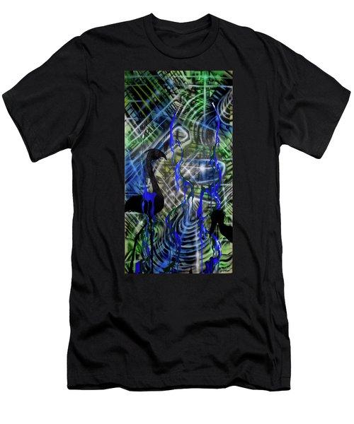 Flamingo Fountain Men's T-Shirt (Athletic Fit)