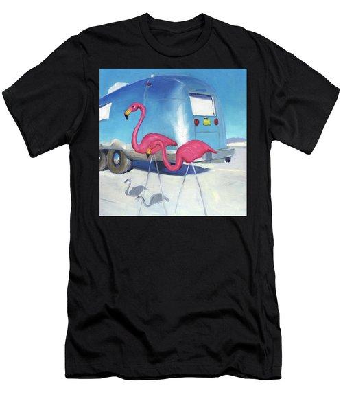 Flamingo Migration Men's T-Shirt (Athletic Fit)