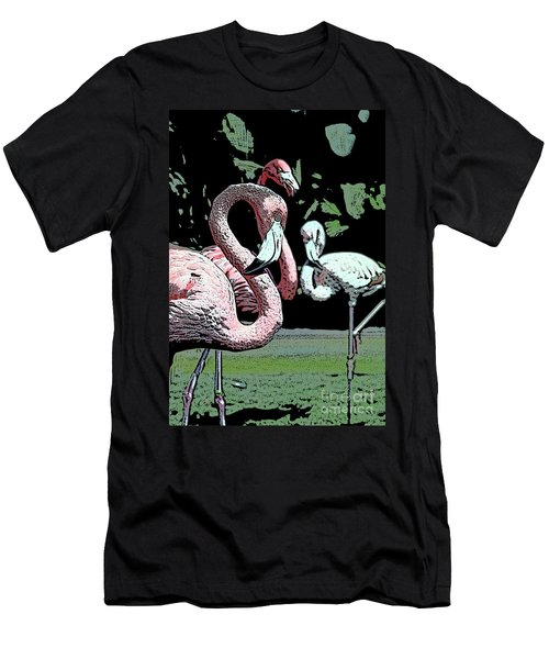 Men's T-Shirt (Slim Fit) featuring the photograph Flamingos II by Jim and Emily Bush
