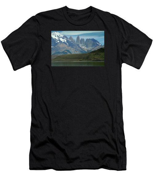 Flamingos Over Lago Nordenskjold Men's T-Shirt (Athletic Fit)