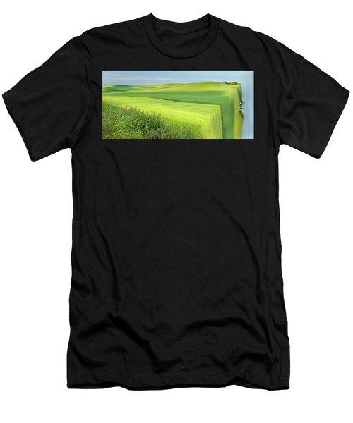 Flat Earth Men's T-Shirt (Athletic Fit)