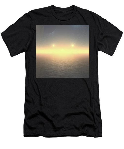 Men's T-Shirt (Athletic Fit) featuring the digital art Flat Lights by Robert Thalmeier