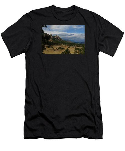 Flatirons, Boulder, Colorado Men's T-Shirt (Slim Fit) by Christopher Kirby