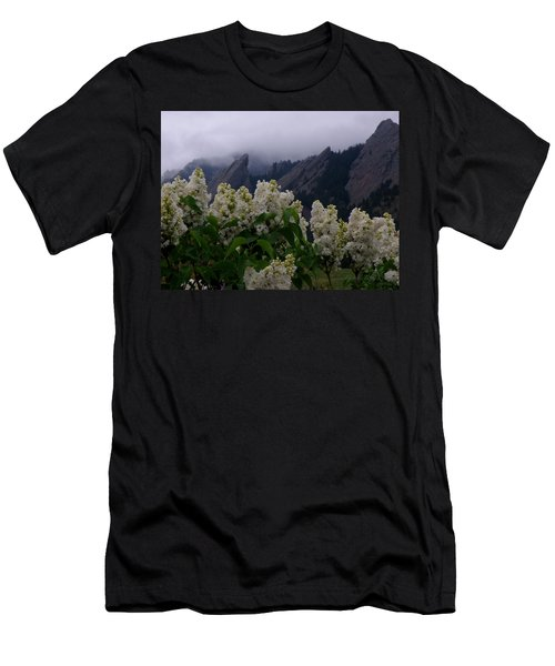Flatirons White Lilacs Men's T-Shirt (Athletic Fit)