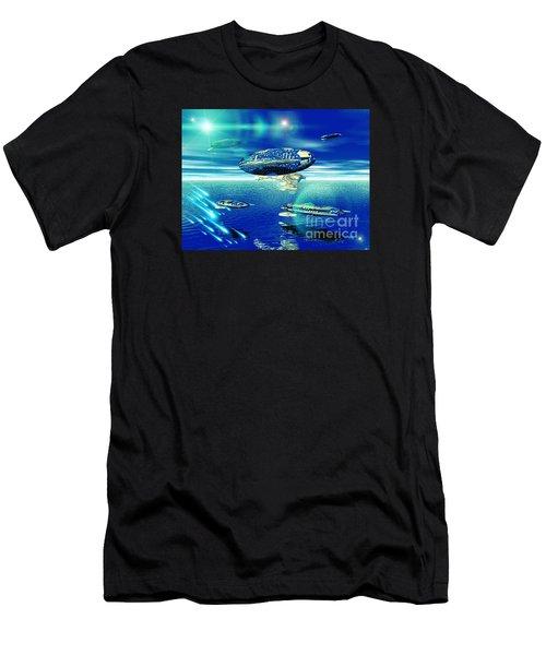 Fleet Aqua Men's T-Shirt (Athletic Fit)