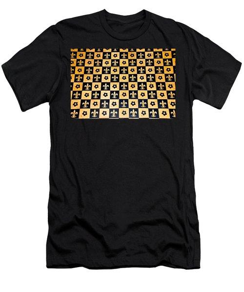 Fleur De Lis Floor Men's T-Shirt (Slim Fit) by Eric Tressler