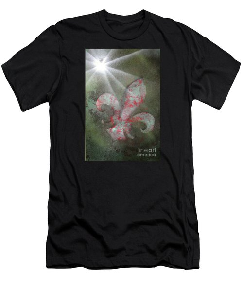 Men's T-Shirt (Slim Fit) featuring the painting Fleur Di Lis by Tbone Oliver