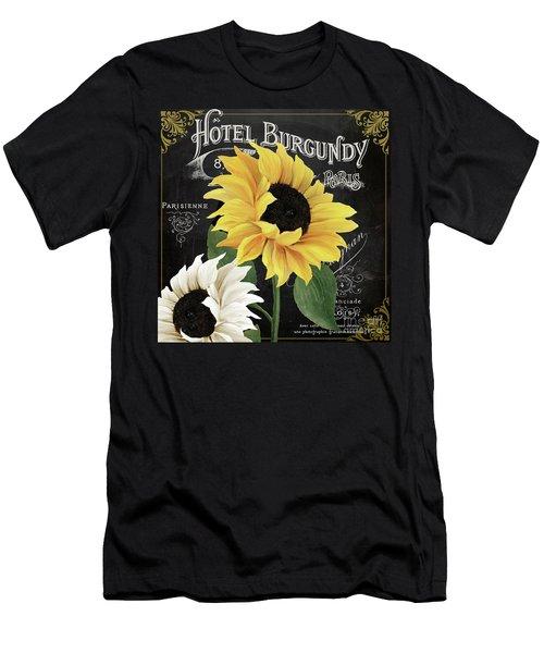 Fleur Du Jour Sunflowers Men's T-Shirt (Athletic Fit)