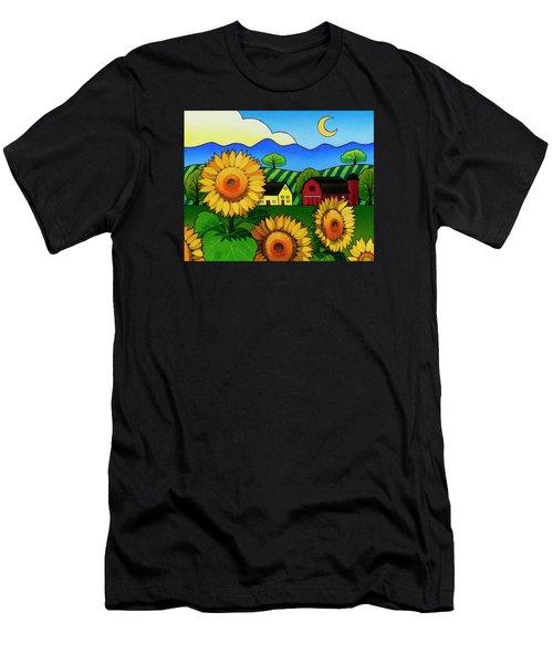 Fleur Du Soleil Men's T-Shirt (Athletic Fit)