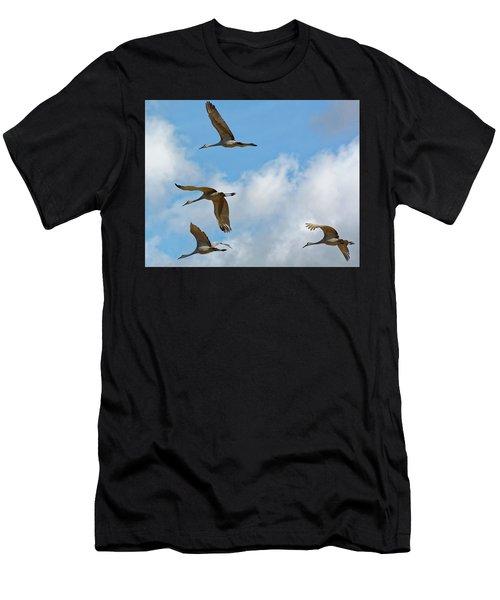 Flight Of The Cranes Men's T-Shirt (Athletic Fit)