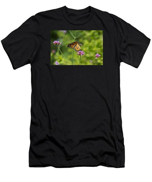 Men's T-Shirt (Athletic Fit) featuring the photograph Flight Of The Monarch 1 by Brian Hale