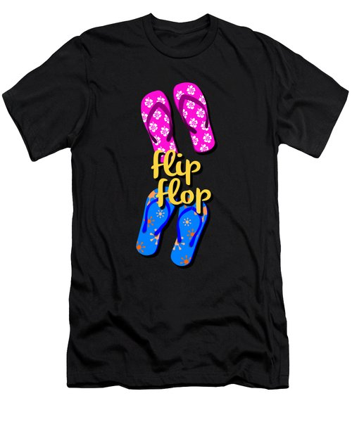 Flip Flop Cell Design Men's T-Shirt (Athletic Fit)