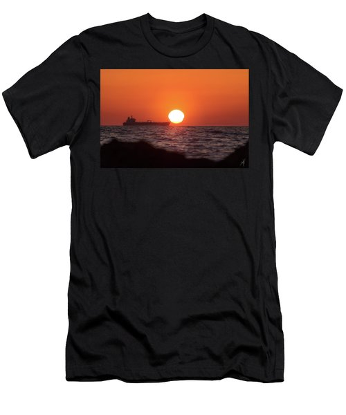 Floating Around The Sun Men's T-Shirt (Athletic Fit)